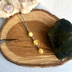 Yellow Opal Pendant Necklace